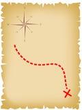 Старая карта пирата Стоковое фото RF