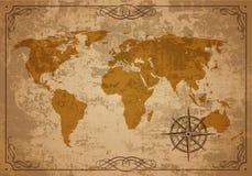 Старая карта. Текстура вектора бумажная Стоковая Фотография RF