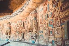 Старая картина Майя и ацтеков Стоковое фото RF