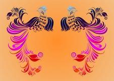 Старая картина Феникса китайца Стоковое Фото