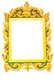 Старая картинная рамка в белой предпосылке Стоковое Фото