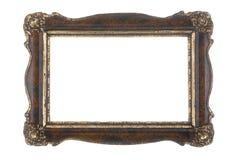 Старая картинная рамка изолированная на белизне Стоковые Фото