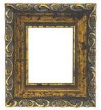 Старая картинная рамка на белой предпосылке Стоковая Фотография RF