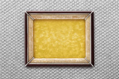 Старая картинная рамка на серебряной предпосылке Стоковая Фотография RF
