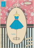 Старая карточка с платьем Стоковое фото RF