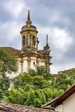 Старая католическая башня церков колокола Стоковые Изображения RF