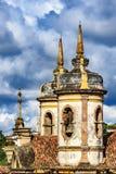 Старая католическая башня церков колокола XVIII века Стоковые Изображения RF