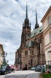 Старая католическая церковь в городе Брна, второй по величине городе в чехии Стоковые Фото