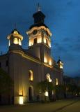 Старая католическая церковь против Стоковые Изображения RF