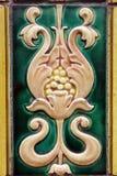 Старая керамическая плитка на здании Стоковое фото RF