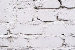 Старая кирпичная кладка Белое покрытие Неровная поверхность Стоковое Изображение