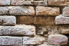 Старая кирпичная кладка древней стены в Bhaktapur, Непале Стоковое фото RF