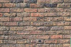 Старая кирпичная стена в Лондоне Стоковое фото RF