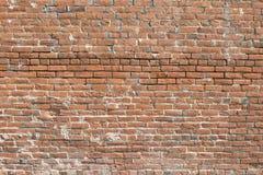 Старая кирпичная стена - горизонтальная Стоковые Изображения RF