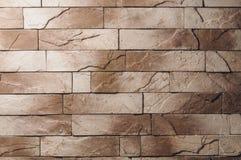 Старая кирпичная стена коричневого цвета grunge стоковое изображение rf