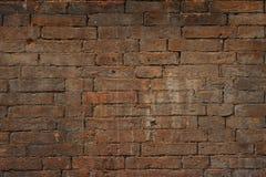 Старая кирпичная стена, старая текстура красного камня преграждает конец-вверх Стоковая Фотография RF