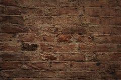 Старая кирпичная стена, старая текстура красного камня преграждает конец-вверх Стоковое Изображение