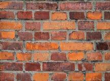 Старая кирпичная стена, старая текстура красного камня преграждает крупный план Стоковые Фотографии RF