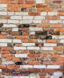 Старая кирпичная стена, текстура предпосылки Стоковая Фотография RF