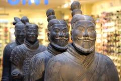Старая китайская армия терракоты Стоковые Изображения