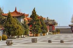 Старая китайская архитектура на Великой Китайской Стене Китая Стоковое Изображение RF