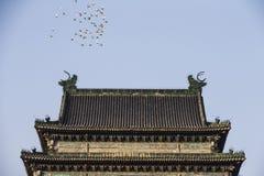 Старая китайская архитектурноакустическая колокольня Стоковая Фотография