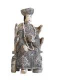 Старая китайская изолированная статуя цвета слоновой кости стоковая фотография rf