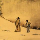Старая китайская роспись Стоковые Фотографии RF