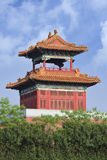 Старая китайская сторожевая башня, династия Qing, Hengdian, Китай стоковая фотография rf