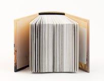 Старая книга изолированная на белой предпосылке Стоковое фото RF