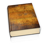 Старая книга на белой предпосылке Стоковые Фото