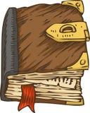 Старая книга с крышкой и фермуаром Брайна бесплатная иллюстрация