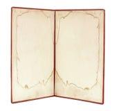Старая книга с пробелом Стоковые Изображения