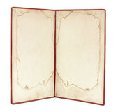Старая книга с пробелом Стоковые Фото