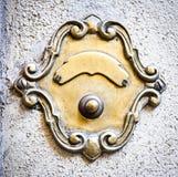 Старая кнопка колокола Стоковые Изображения RF