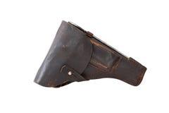 старая кобуры кожаная Стоковое Изображение RF