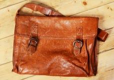 Старая кожаная сумка Стоковые Изображения RF