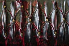 Старая кожаная текстура кресла Стоковые Фотографии RF