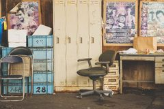 Старая комната в рынке tsukiji Стоковые Изображения RF