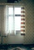 Старая комната с окном Стоковая Фотография