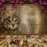старая комната Стоковая Фотография
