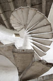 Старая конкретная лестница Стоковые Фотографии RF