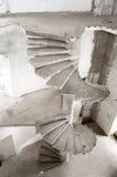Старая конкретная лестница Стоковая Фотография