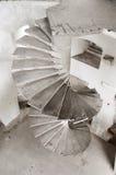 Старая конкретная лестница Стоковые Фото
