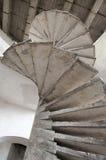 Старая конкретная лестница Стоковые Изображения