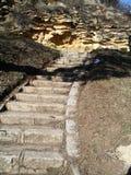 Старая конкретная лестница Стоковое фото RF