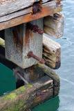 Старая конструкция на фьорде Стоковые Изображения RF