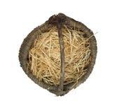 Старая корзина wicker стоковое изображение