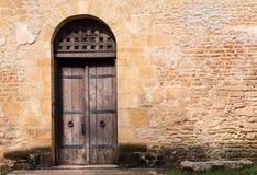 Старая коричневая дверь Стоковое Изображение