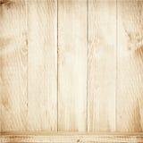 Старая коричневая деревянная текстура планок с полкой Стоковое Изображение